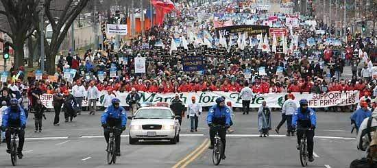 Марш за жизнь в Вашингтоне, 24 января 2011
